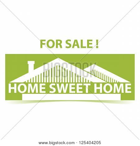 Vector background with houses and title Home sweet home