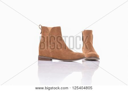 Women's autumn ankle boots, isolated