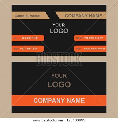 Vector illustration of creative business card mockup for business work