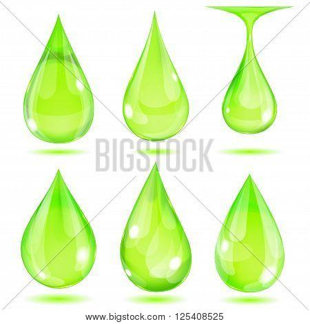 Opaque Green Drops
