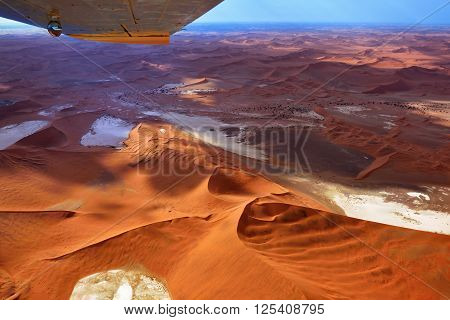 Flight Over Namib Desert
