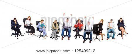 Business People Sitting like a Boss
