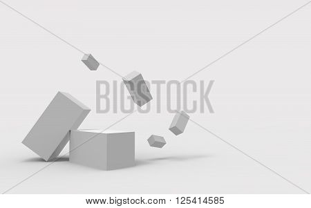 Abstract Geometrical Lowpoly Fragmentation square monochrome and Graphic Resources. 3D