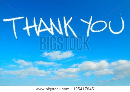 thank you written in the sky with contrails