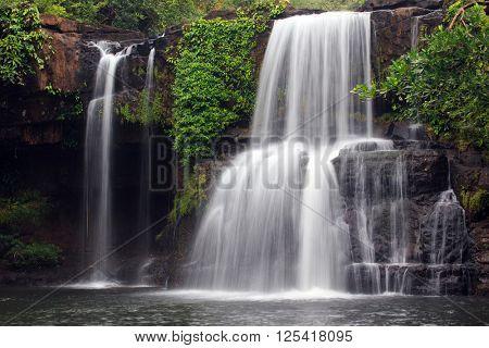 Khlong Chao waterfall in Ko Kood island, Thailand