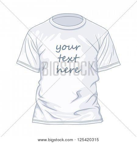 White t-shirtdesign template. Vector illustration