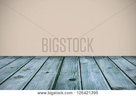 wooden planks against beige background