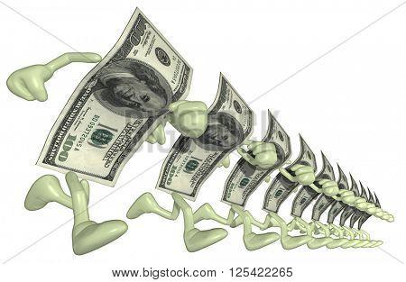 Money Man 3D Illustration
