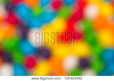 Blurred Backdrop From Multicolored Sweet Candy