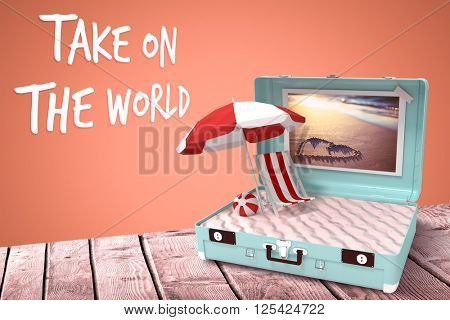 Take on the world against orange background