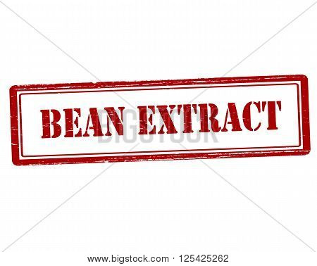 Rubber stamp with text bean extract inside vector illustration