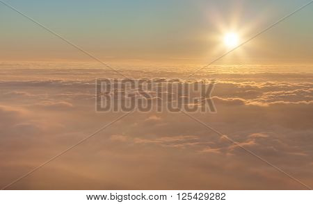 The Landscape. The sun above the clouds