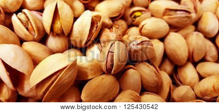 Pistachio Nuts from an overhead view, so  many nuts