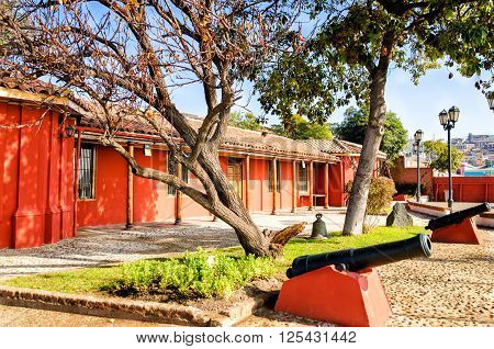 Red Colonial House