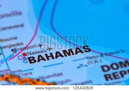 Bahamas Caribbean Island On Map