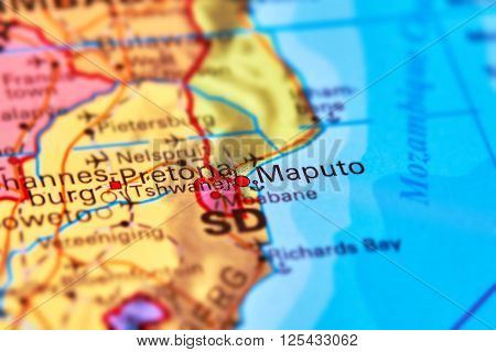 Maputo City, Mozambique On The Map
