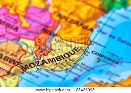 Mozambique On The Map