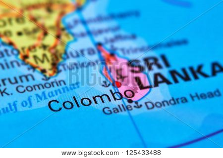 Colombo, Capital City Of Sri Lanka On The Map