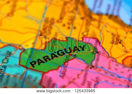 Paraguay On The Map