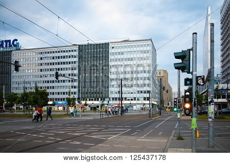 BERLIN - MAY 15: Typical Street view May 15, 2013 in Berlin, Germany. Berlin is the capital of Germany. With a population of approximately 3.5 million people.BERLIN, GERMANY