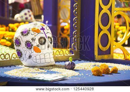 Dia de muertos mexican celebration, religious festival