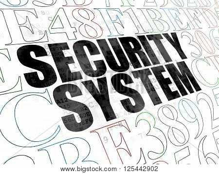 Privacy concept: Security System on Digital background