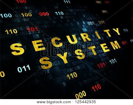 Protection concept: Security System on Digital background