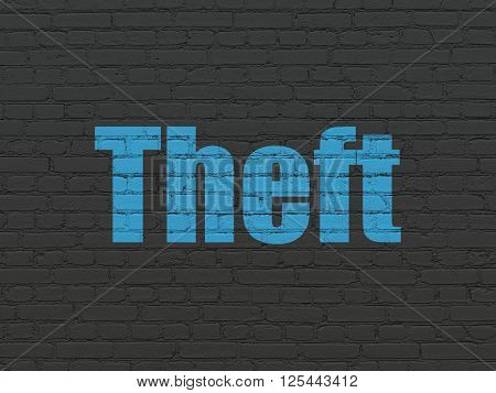 Privacy concept: Theft on wall background