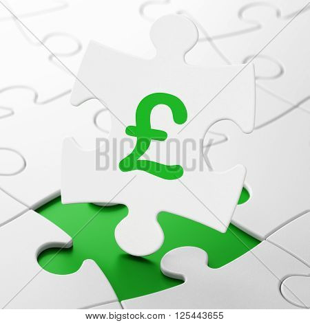 Money concept: Pound on puzzle background