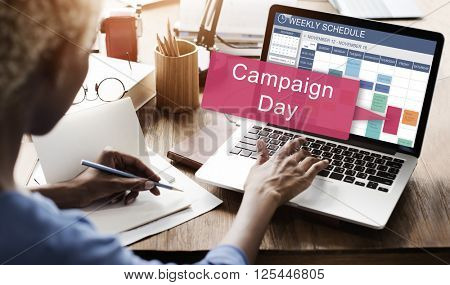 Campaign Day Advertise Announcement Social Concept
