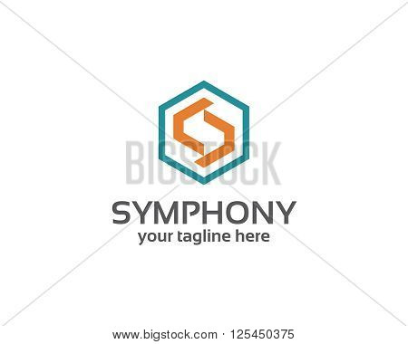 Business Corporate Letter S Logo Design Vector. Simple And Clean Flat Design Of Letter S Logo Vector