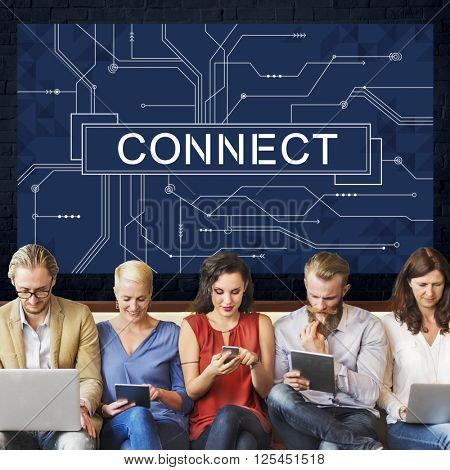 Connect Links Networking Access Concept
