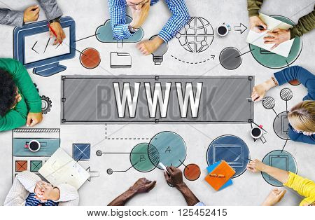 WWW Network Online Connection Technology Concept
