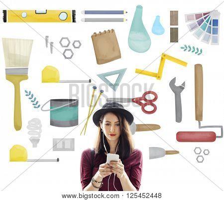 Tools Craftsmen Hobby Repairment Equipment Concept