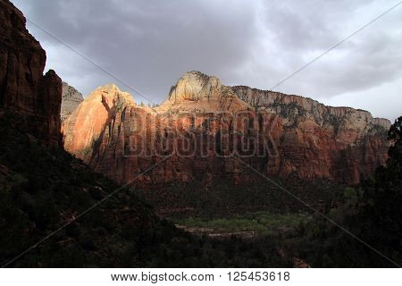 Majestic Mountains in Zion National Park, Utah ** Note: Soft Focus at 100%, best at smaller sizes