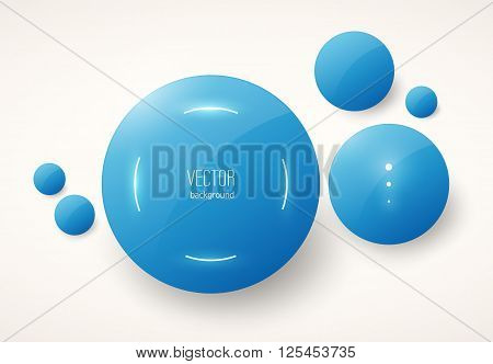 Round Blue Glossy Placeholders
