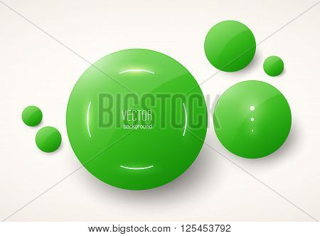 Round Green Glossy Placeholders