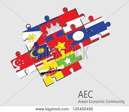 ASEAN Economic Community , AEC jigsaw concept