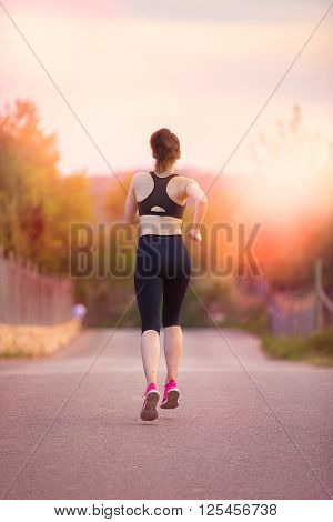 running jogging fitness girl or woman