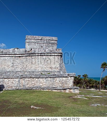 Tulum Mayan Ruins - Castillo / Temple Of The Initial Series