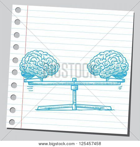Brains on seesaw