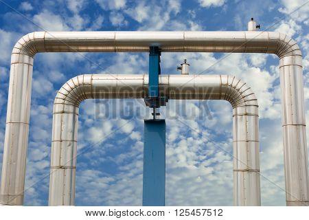 Omega loop steam pipeline for industrial, Pipeline .
