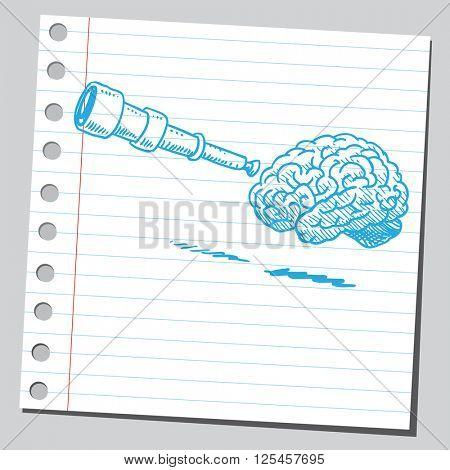 Brain and spyglass