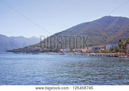 View of the coast of Marmaris. Turkey.