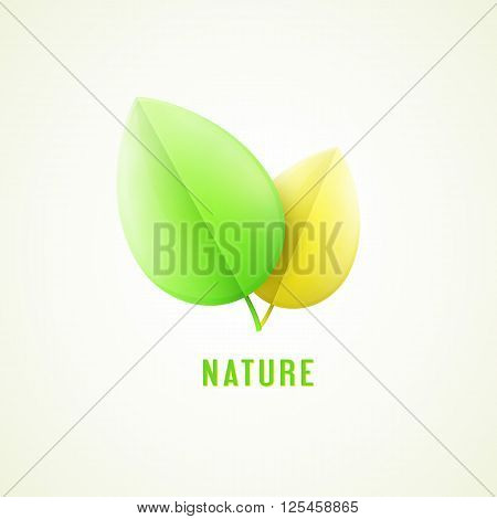 yelow and green vector nature design eps10