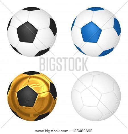 3d soccerball isolated on white background. 3d illustration