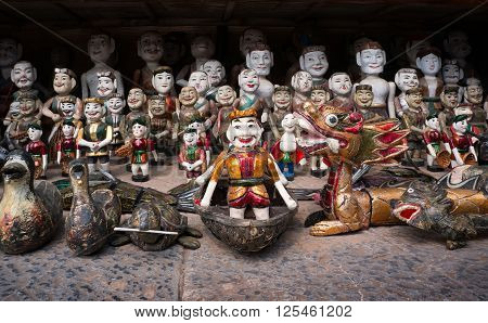 HA NOI, VIET NAM, January 23, 2016 puppet, popular arts, in Ha Noi, Vietnam