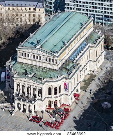 Erial View Of The Alte Oper (old Opera House) In Frankfurt