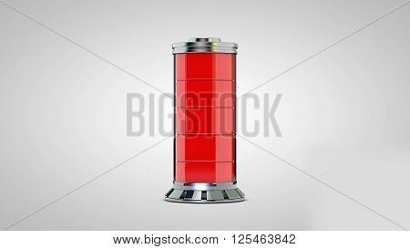 3D rendering of AA battery of a widespread against a white background.