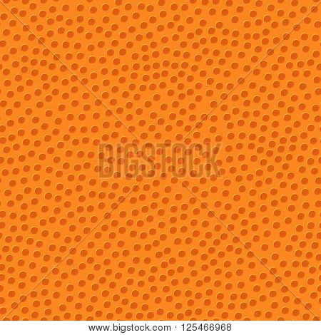 basketball orange ball texture with bumps seamless pattern